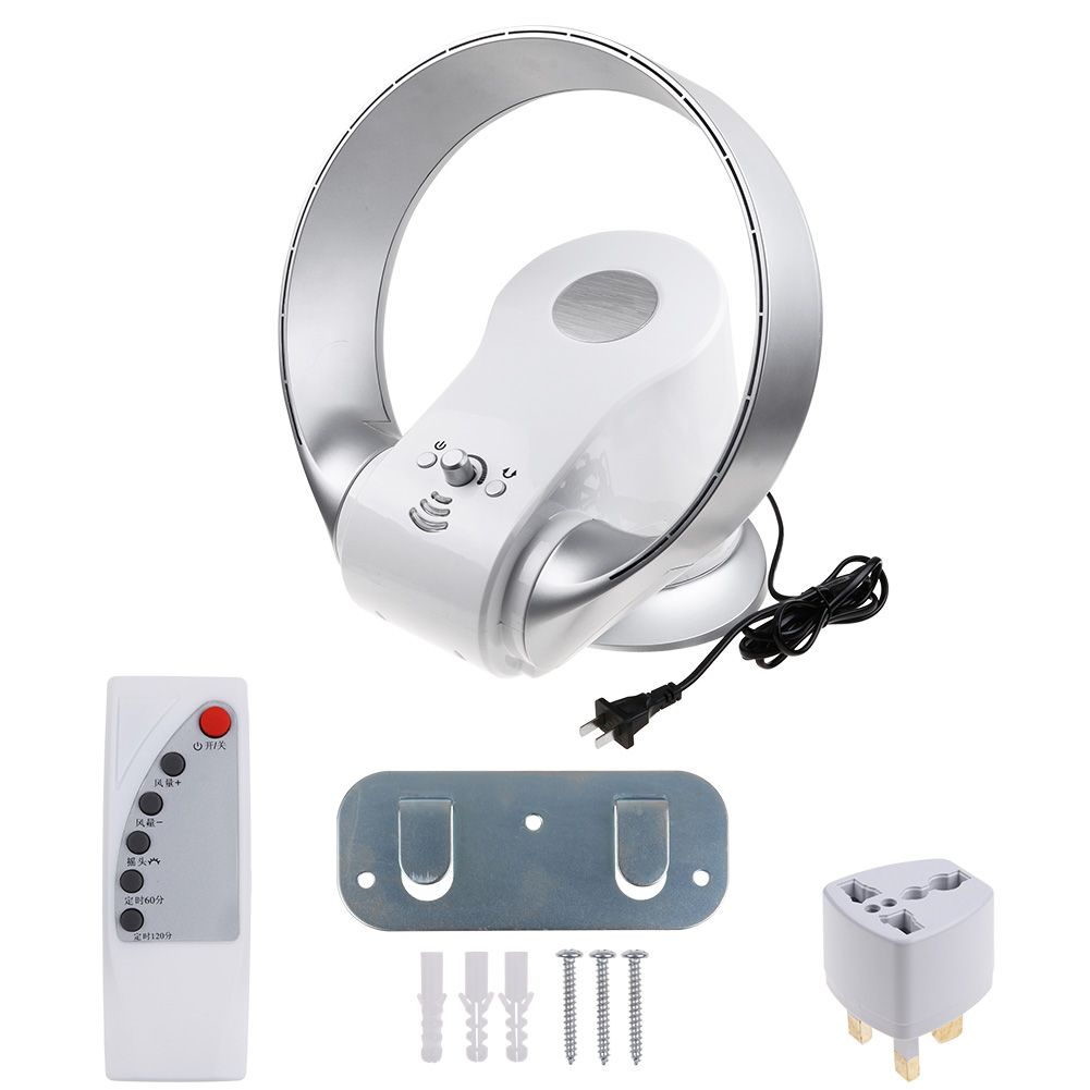 Wall Mounted Fans With Remote Control : Air conditioning fan bladeless cooling remote control