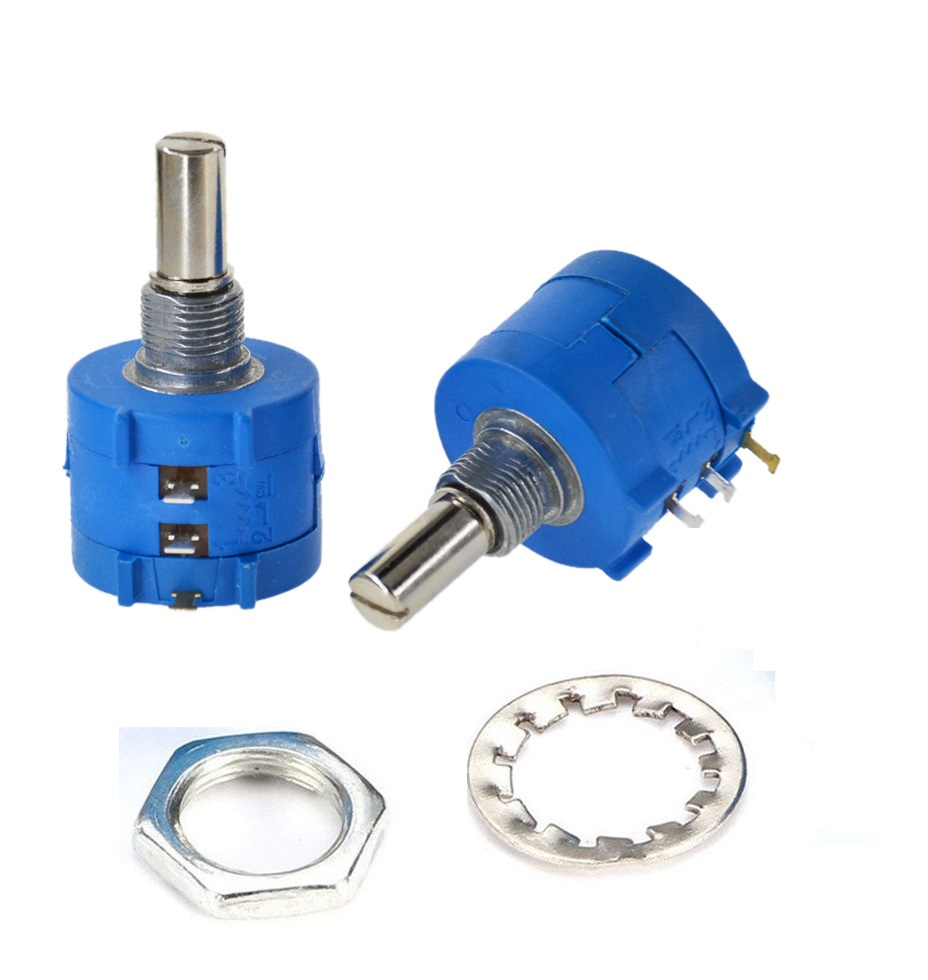 3590s Rotary Wirewound Precision Potentiometer 10 Turn Ohm Variable Wiring A As Resistor 10k