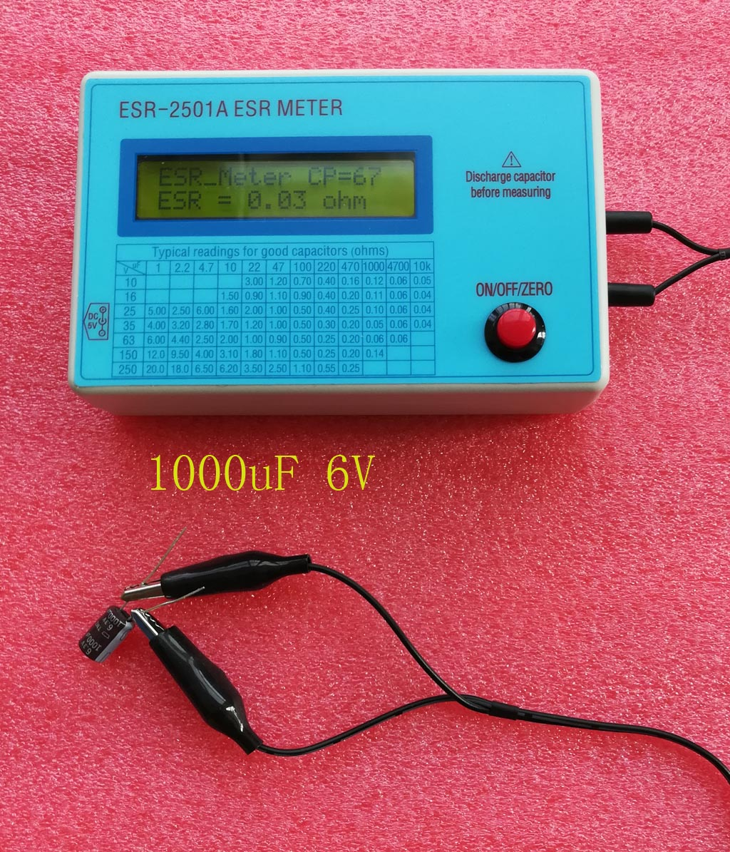 In Circuit Capacitor Tester : Esr capacitor dcr tester test in circuit