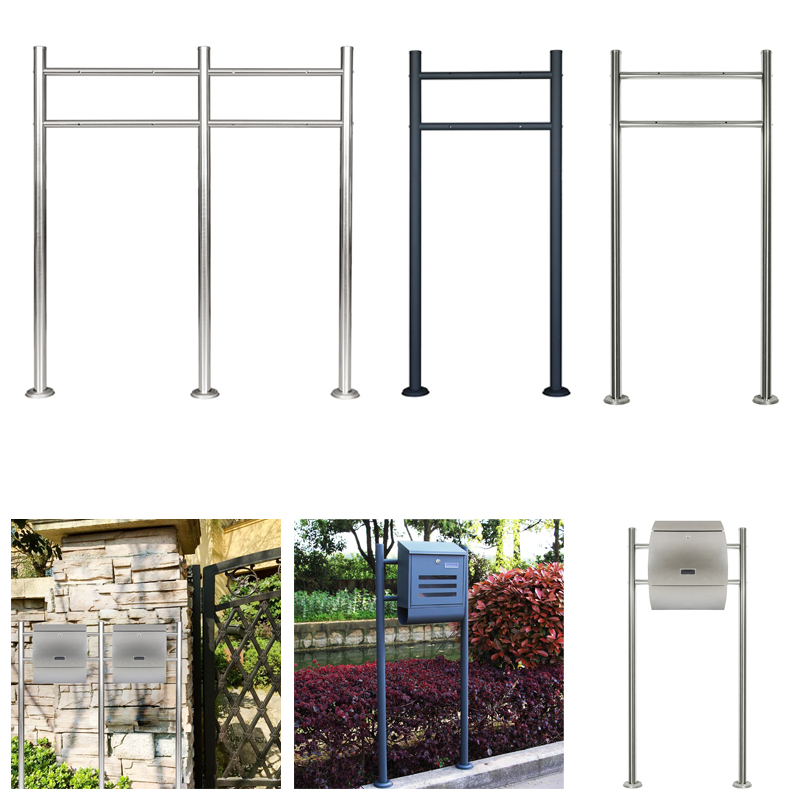universal edelstahl doppel standbriefkasten postkasten wand briefkastenst nder ebay. Black Bedroom Furniture Sets. Home Design Ideas