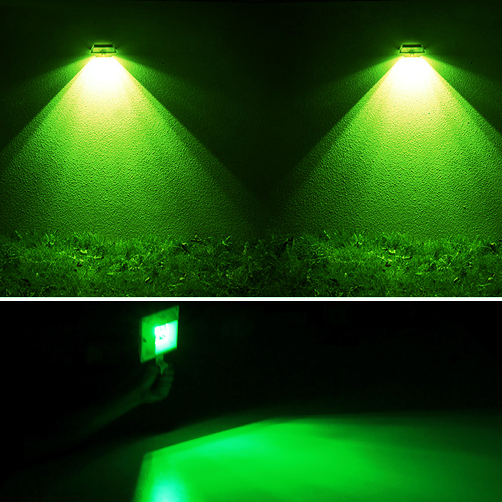 Porch Light Green: Solar Power Light Sensor 6 LED Gutter Lights Outdoor Wall