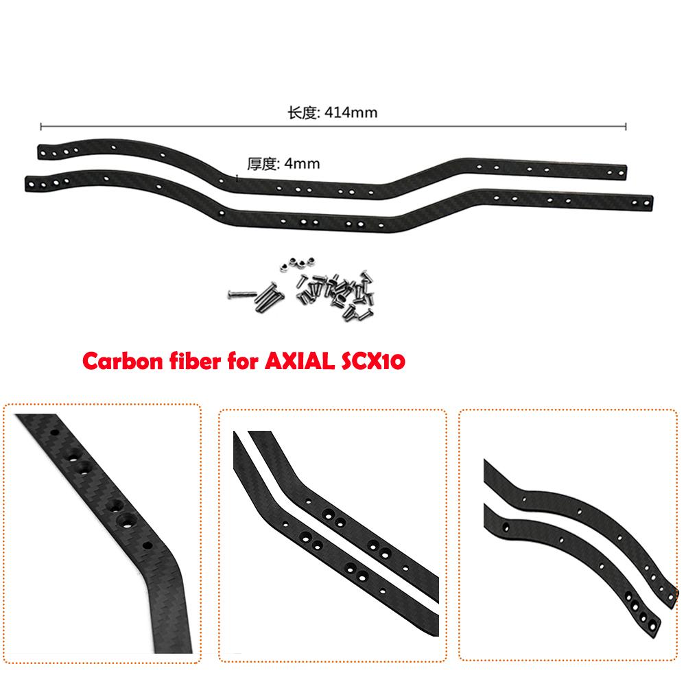 1pair carbon fiber chassis rahmenschienen frame rails f r axial scx10 rc crawler ebay. Black Bedroom Furniture Sets. Home Design Ideas