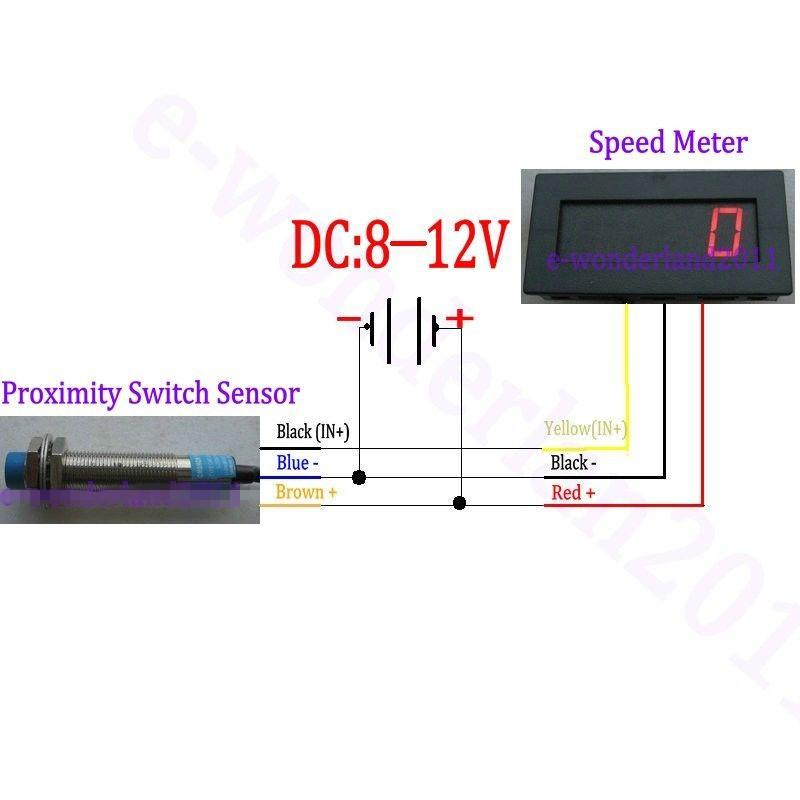 new 4 bit 12v digital blue led speed meter tachometer rpm. Black Bedroom Furniture Sets. Home Design Ideas