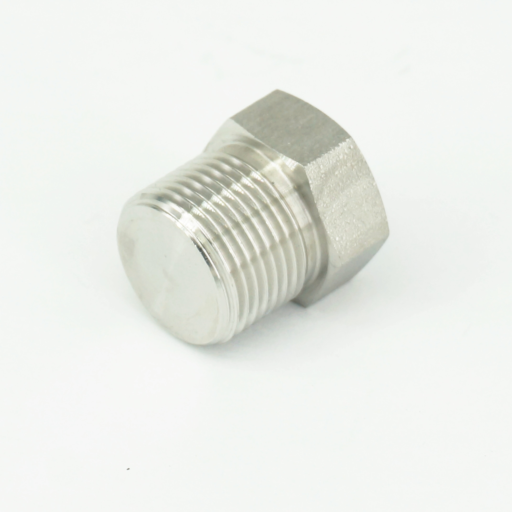 "1/8""-2"" NPT Male 304 Stainless Steel Hex Head Plug Forged ..."