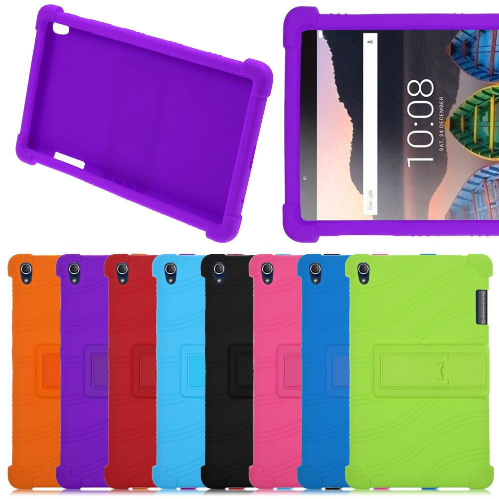 Silicone TPU Stand Case Cover For Lenovo Tab3 8 Plus /P8 ...