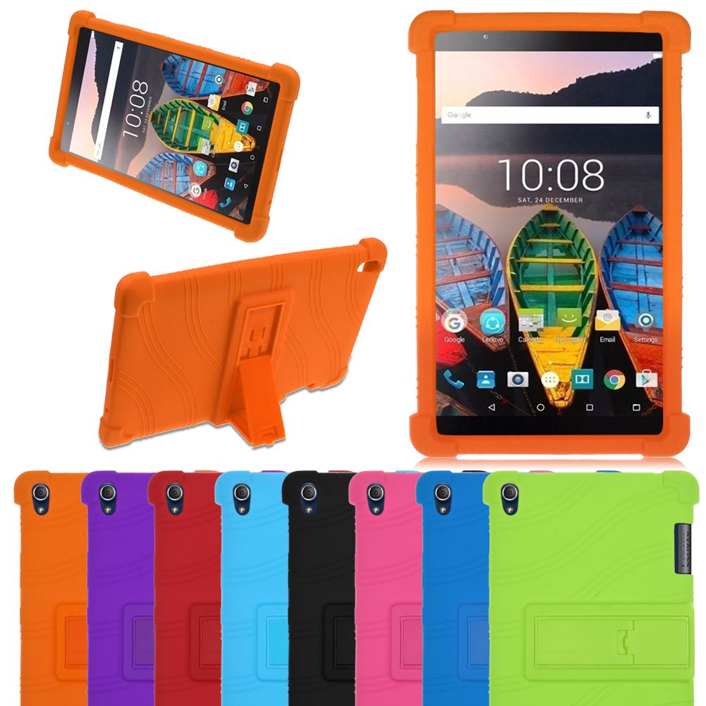 finest selection 51259 9ad52 Details about Rubber Stand Case Cover Skin For Lenovo Tab 3 8 Plus / P8  (TB-8703F) 8