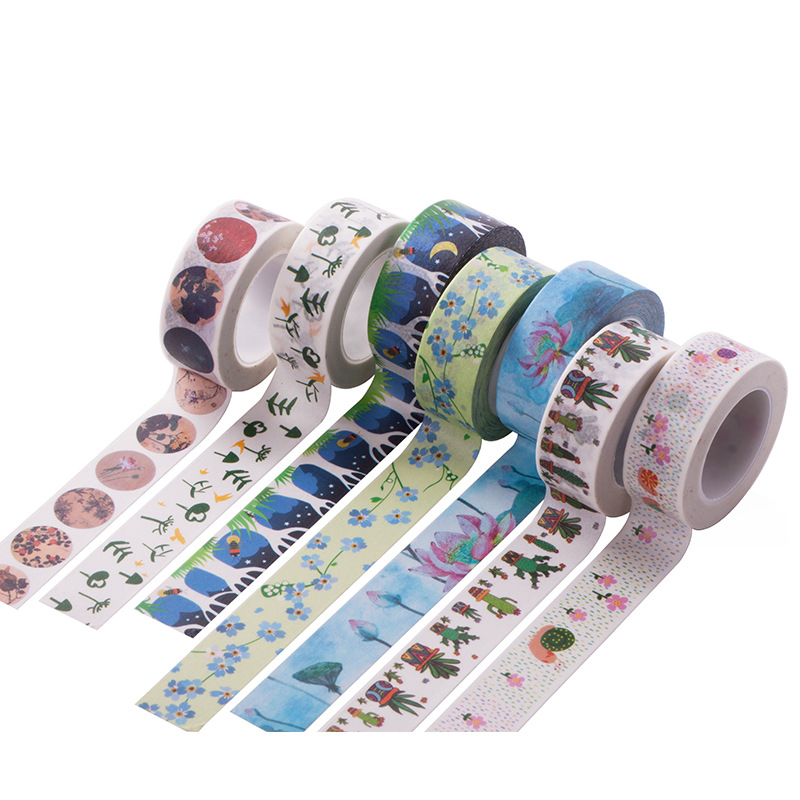 ruban adh sif washi papier masking tape scrapbook autocollant d coratif bo te ebay. Black Bedroom Furniture Sets. Home Design Ideas