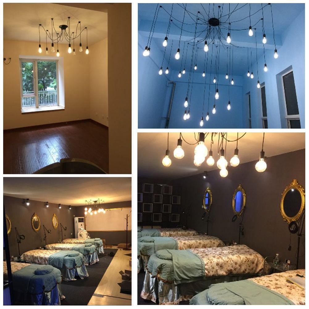 pendant lighting edison. UK Vintage Adjustable Ceiling Spider Lamp Light Pendant Lighting Edison DIY R