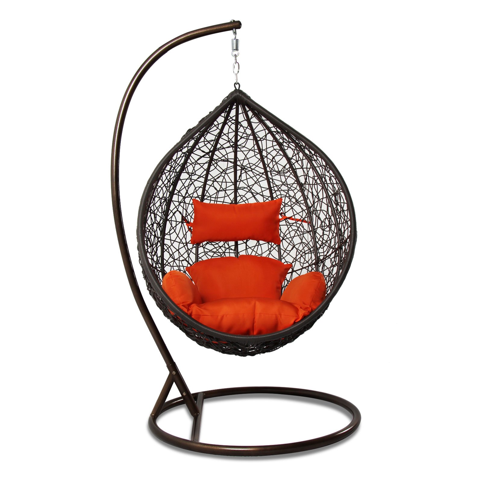 outdoor patio furniture brown swing chair wicker rattan. Black Bedroom Furniture Sets. Home Design Ideas