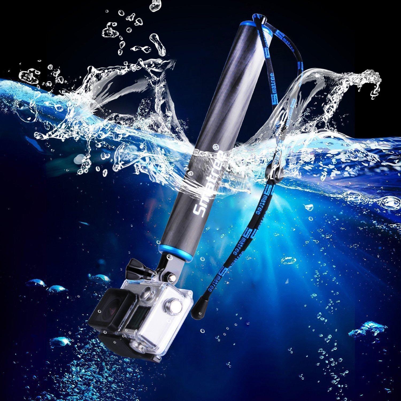 Smatree Waterproof Carbon Fiber Floating Hand Grip For Gopro Hero 6 Bobber Xiaomi Yi And 2 3 5 4 Ebay