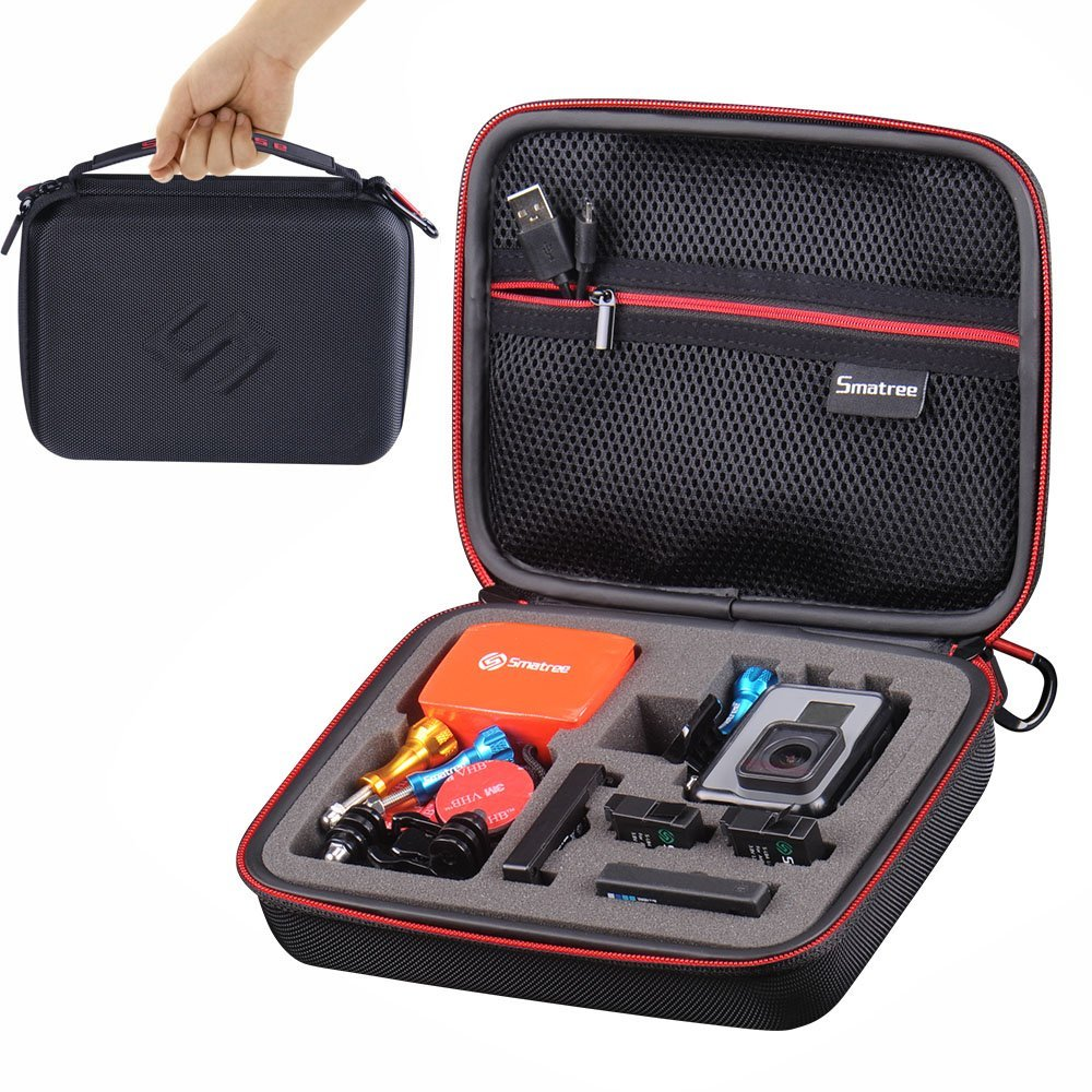 smatree travel carry case for gopro hd hero 5 4 3  3 2 1