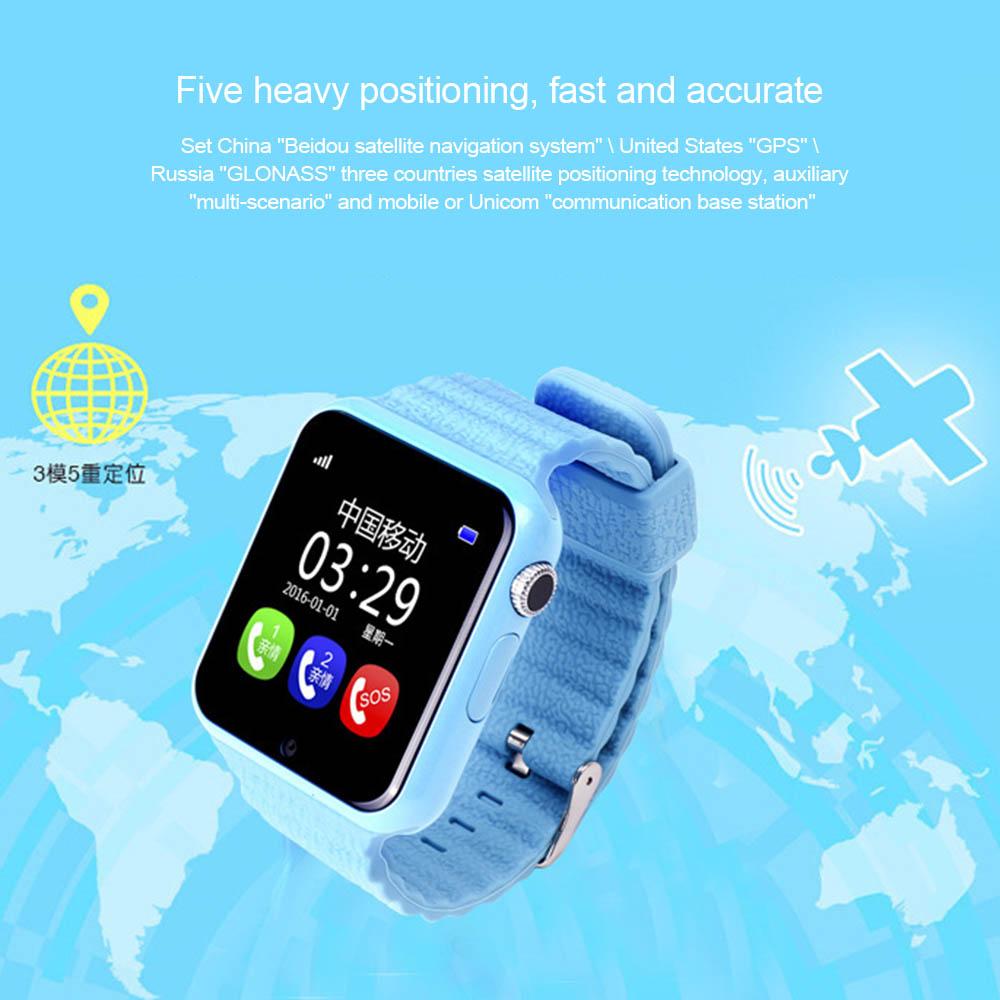 v7k gps bluetooth smart watch waterproof kinder junge. Black Bedroom Furniture Sets. Home Design Ideas
