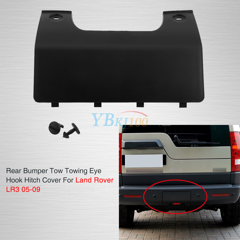 rear bumper tow eye cover for land rover lr3 lr4 discovery. Black Bedroom Furniture Sets. Home Design Ideas