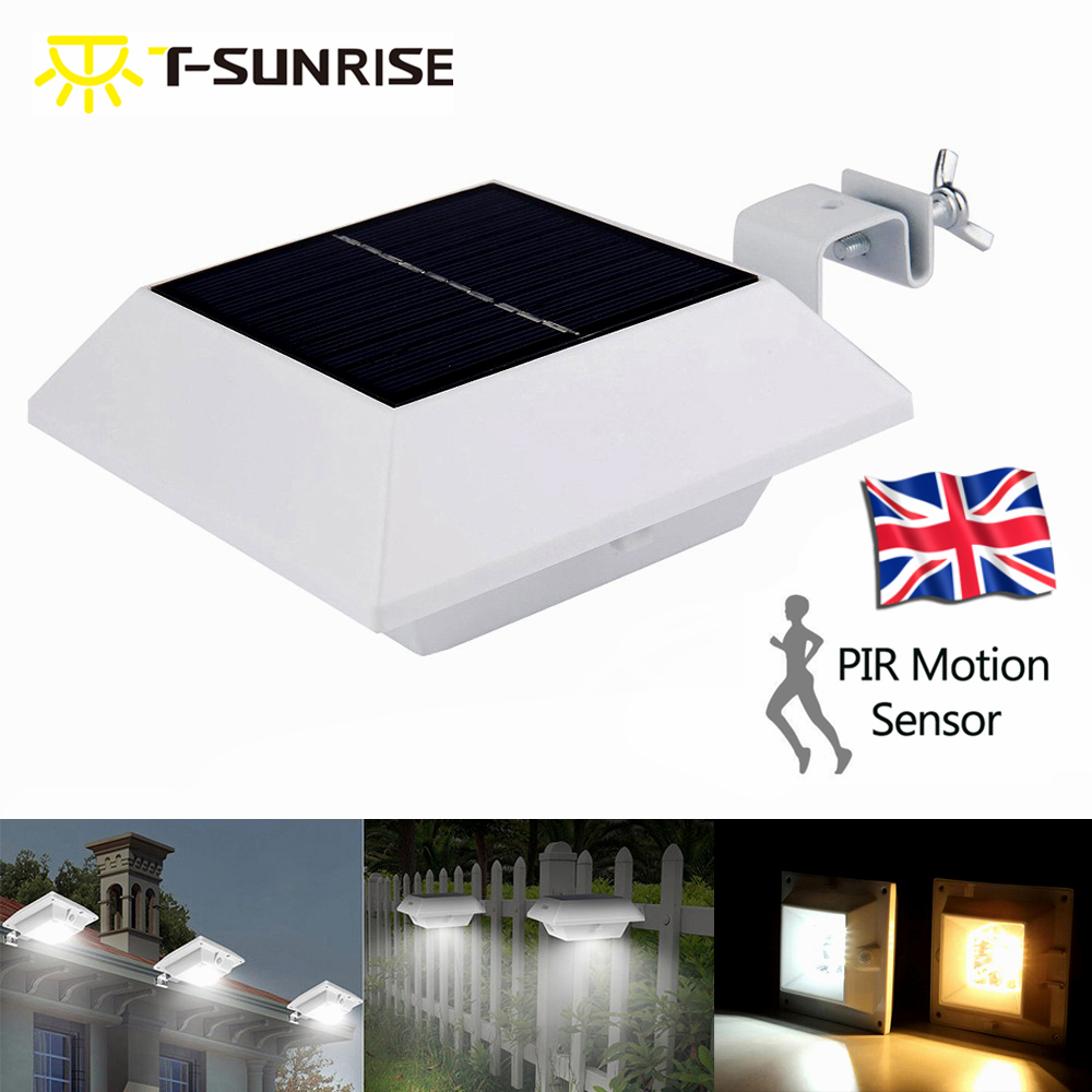 Solar Lights Roof: PIR Motion Sensor Solar Power Outdoor 6 LED Gutter Lights