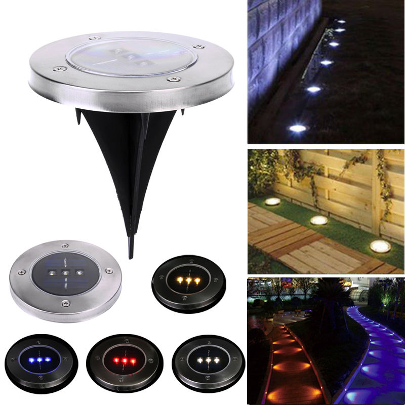 Solar powered led underground light garden outdoor pathway for Led walkway lights