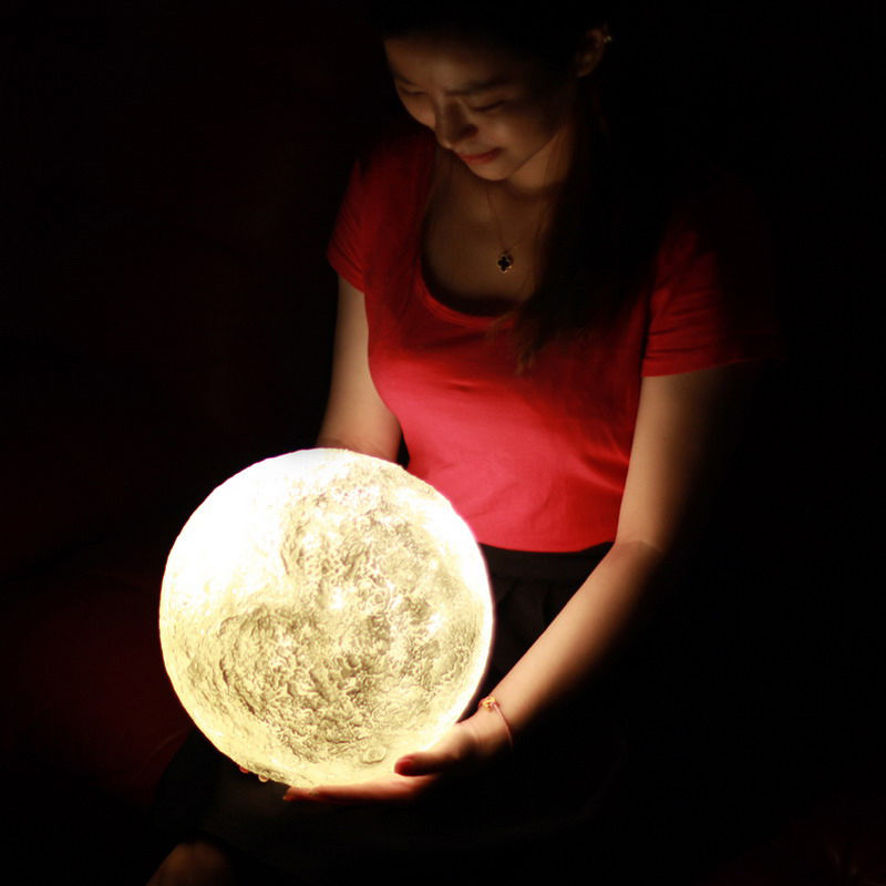 3d Printing Luna Night Light Led Moon Lamp Touch Control