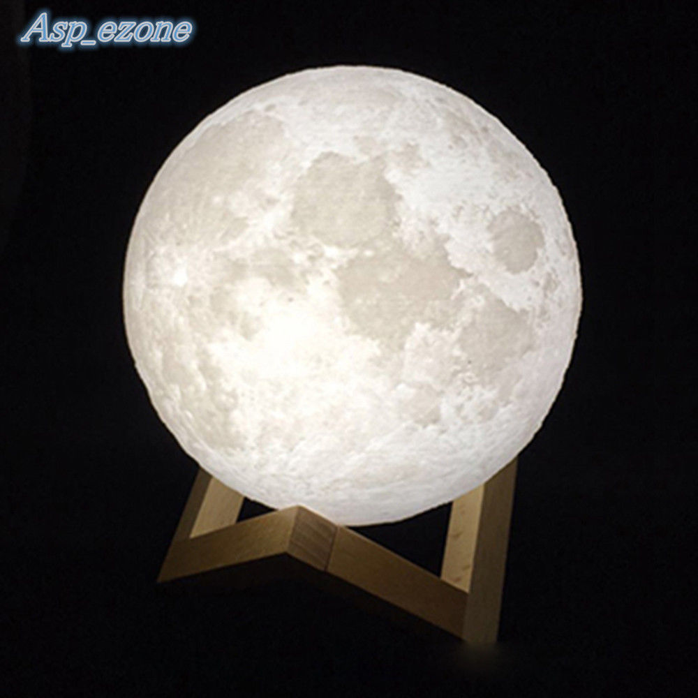 The moon lamp  3D Printing Luna Night Light LED Moon Lamp Touch Control Lighting  . Lunar Lighting Uk. Home Design Ideas