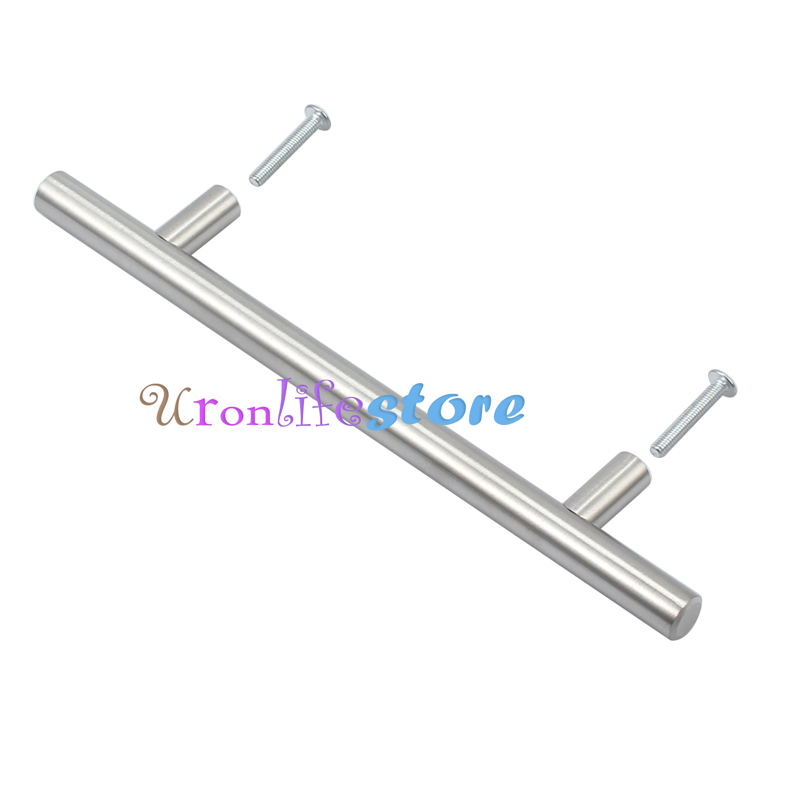 20x modern kitchen cabinet t bar stainless steel door for Bar handles for kitchen cabinets