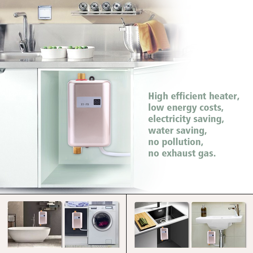 220v Portable Electric Hot Water Heater Shower System