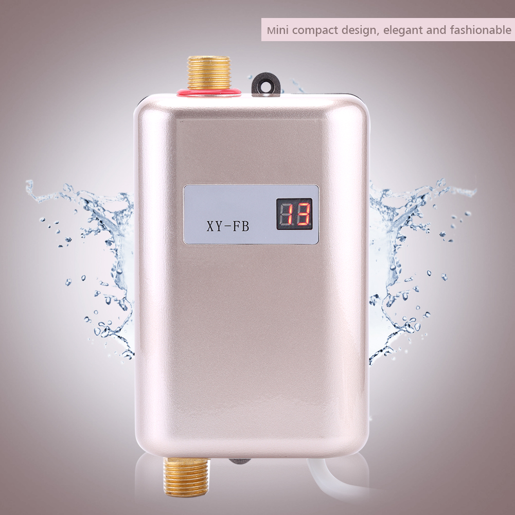 220v mini electric tankless instant hot water heater for 4 bathroom tankless water heater