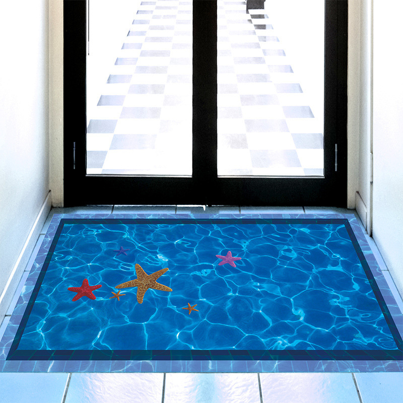 3d Swimming Pool Large Wall Stickers Home Decor Bathroom
