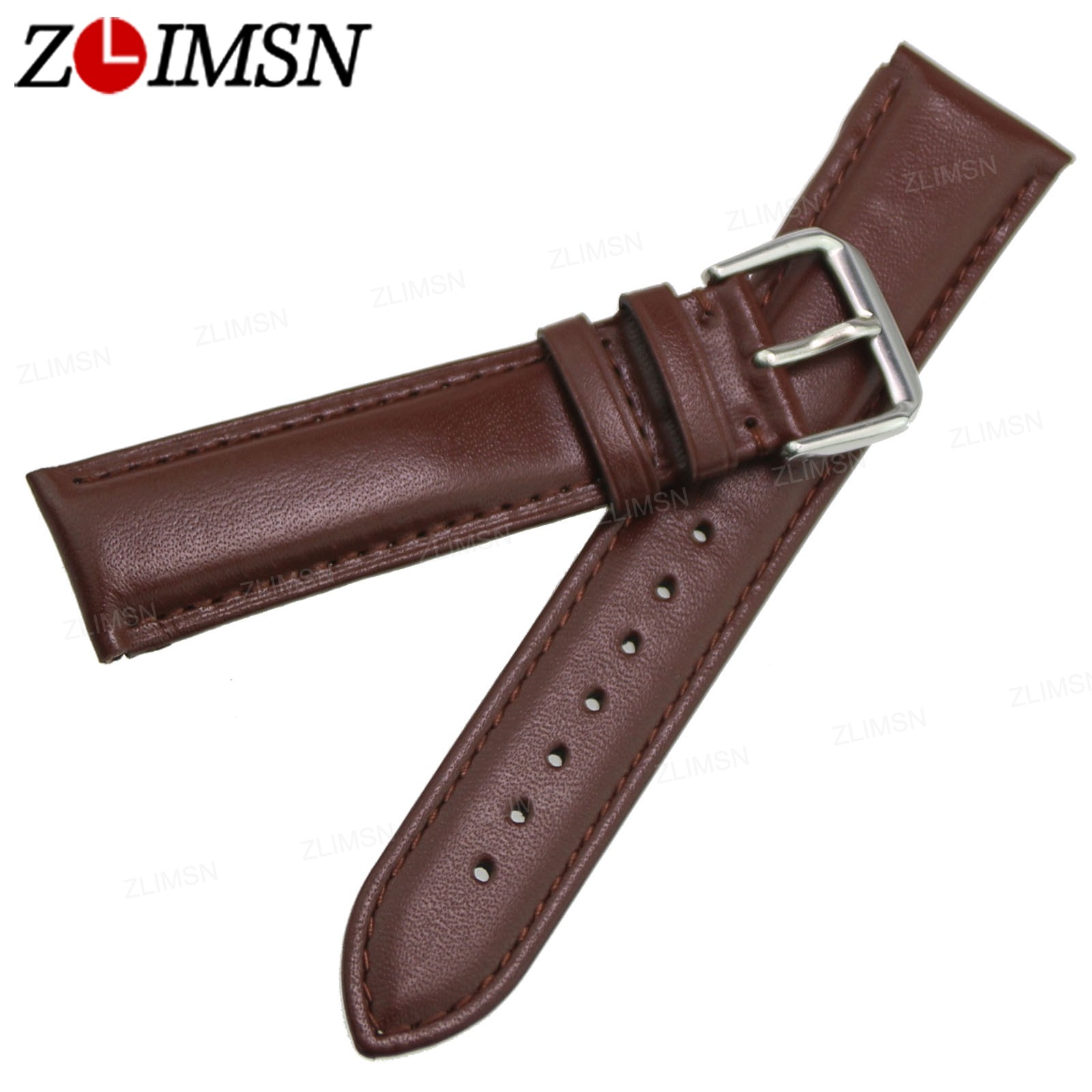 Men 39 s genuine leather band replacement watch strap black brown 18 20 22 24 26 mm ebay for Black leather strap men