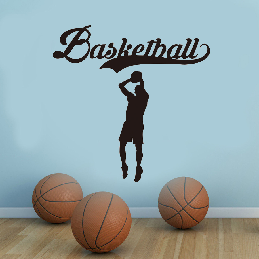 Basketball Player Sports Wall Stickers Vinyl Art Home Decor Boys