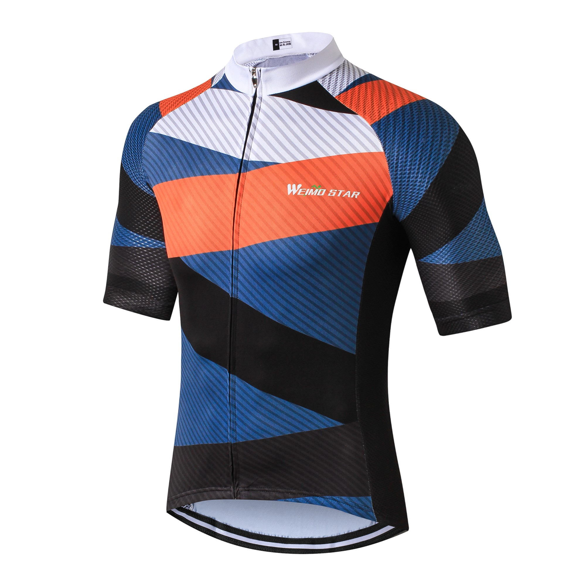 Dot Blue Racing Bike Pro Men's Bicycle Half Sleeve Cycling Jersey Shirts S-3XL