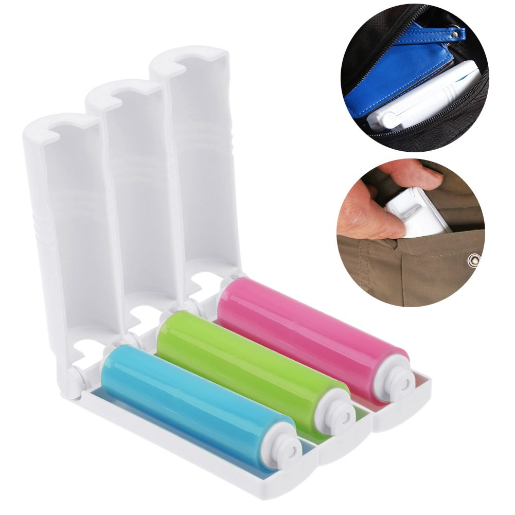 washable sticky cleaner lint roller clothing dust hair remover brush reusable uk ebay. Black Bedroom Furniture Sets. Home Design Ideas