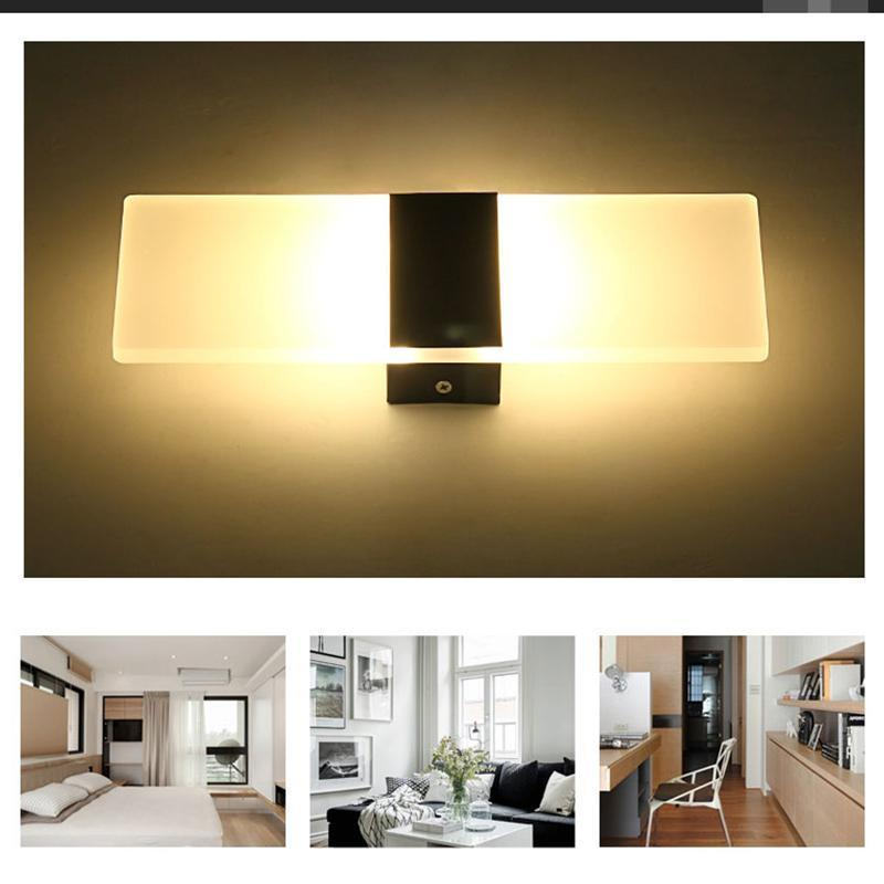 Modern LED Wall Lighting Up Down Cube Indoor Outdoor Bedroom Sconce ...