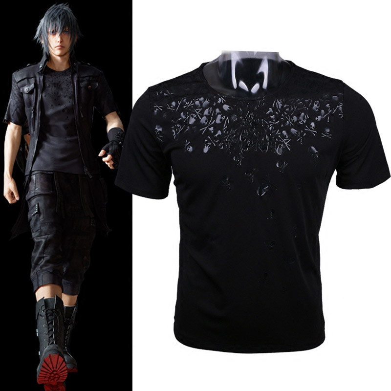 d3f5316ae06aa Details about Final Fantasy XV T Shirt FF15 Cosplay Noctis Lucis Caelum  Skull 3D Cool T-Shirts
