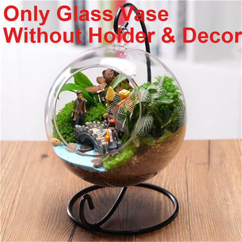 Good Hanging Glass Planter Vase Terrarium Container Home Garden Ball