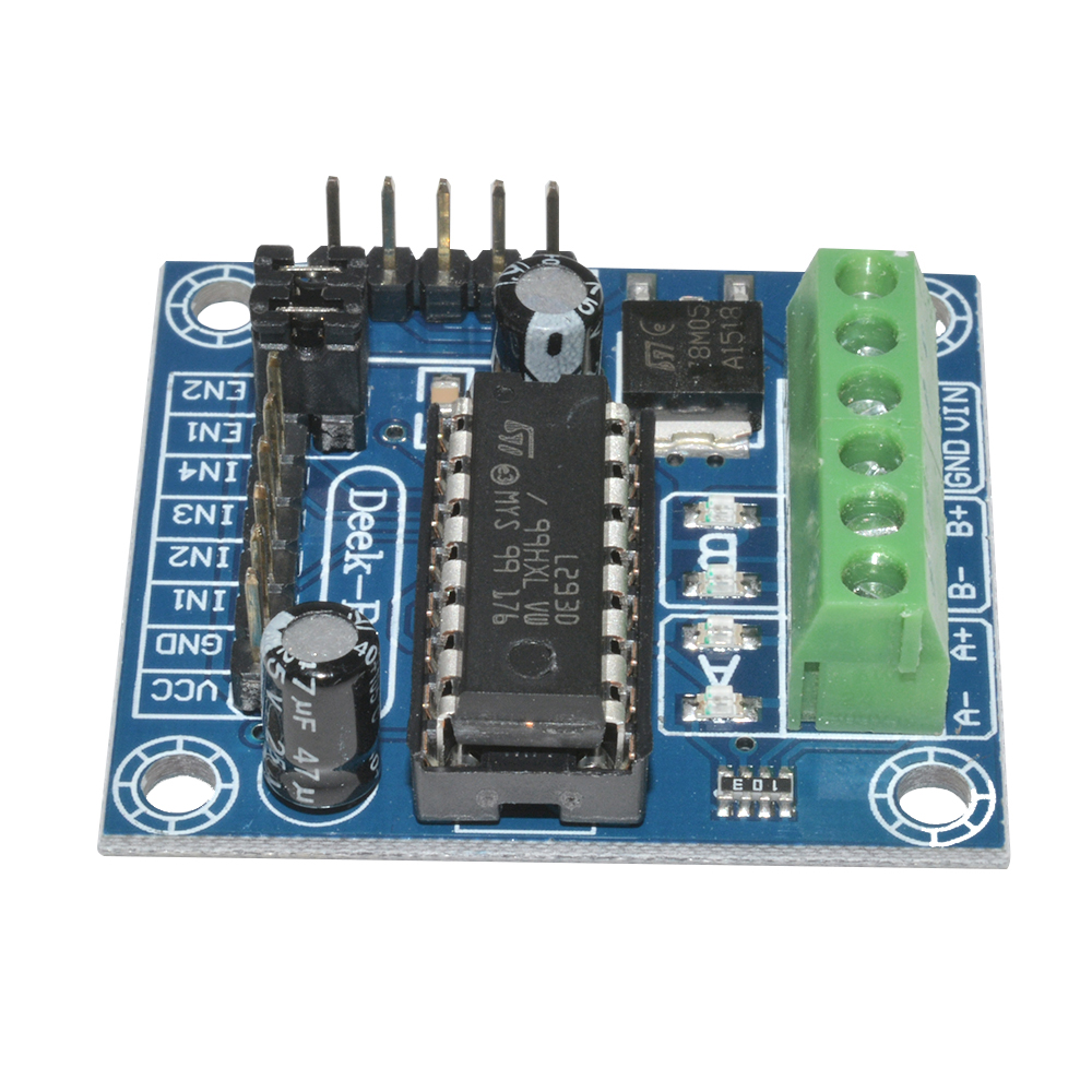 2 5 10pcs Mini L293d Module Motor Driver Shield Expansion Board For Ic Circuit Free Circuits New The Input Voltage Dc45 25v 600ma Output Current Capability Per Channel 12a Peak Non Repetitiveper