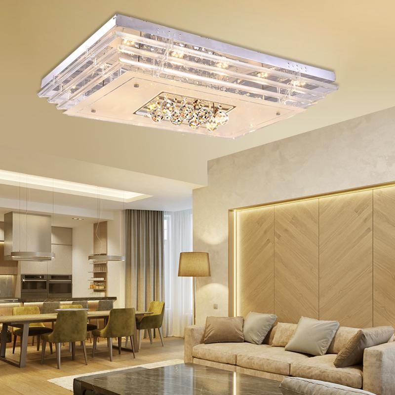 kristall led 48w dimmbar deckenleuchte h ngelampe wandleuchte modern beleuchtung ebay. Black Bedroom Furniture Sets. Home Design Ideas