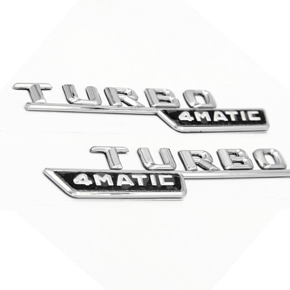 For Mercedes Benz C63 A45 CLASS GLE BRABUS Badge Emblem Trunk Boot Sticker Black