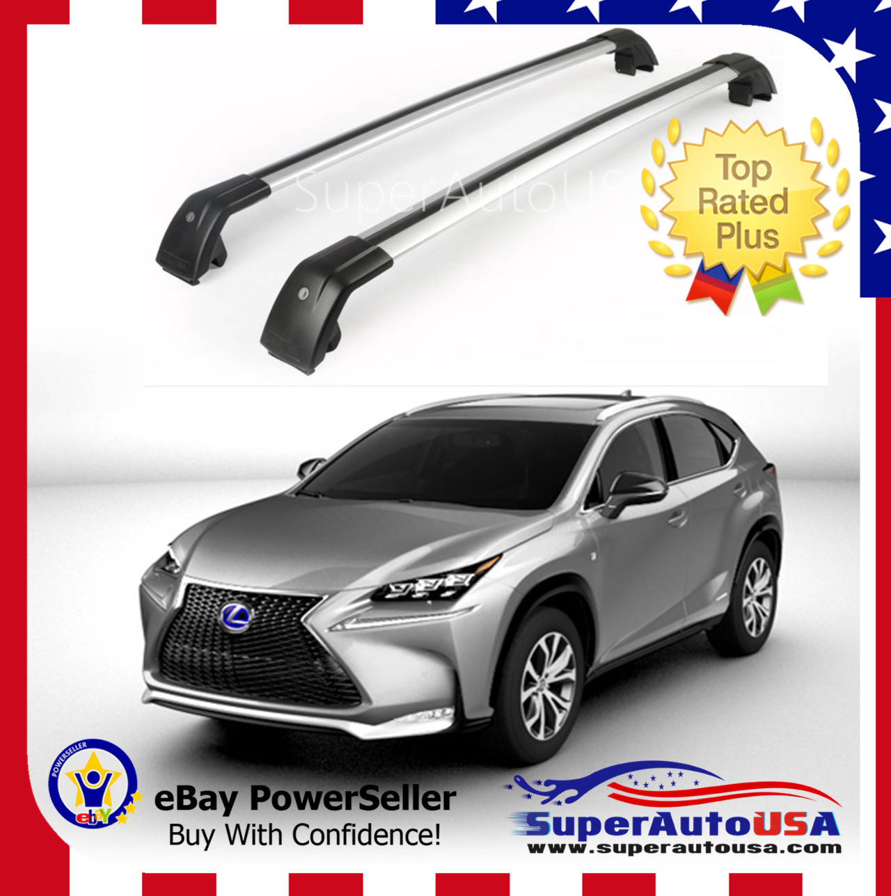 Top Roof Rack For LEXUS NX 200 200t NX300H2015 2016 2017
