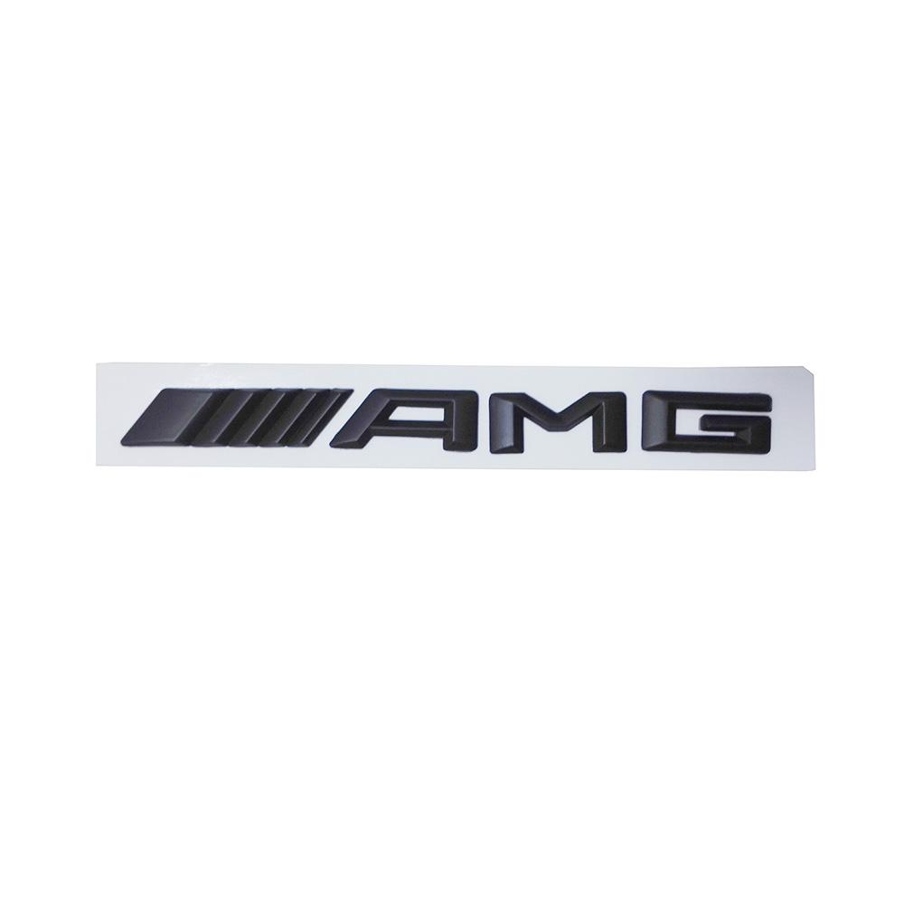 Matte Black 3d Amg Emblem Badge Logo Sticker For Mercedes