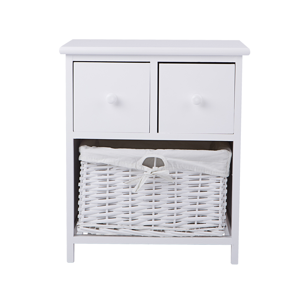 White bedside table shabby chic storage unit cabinet