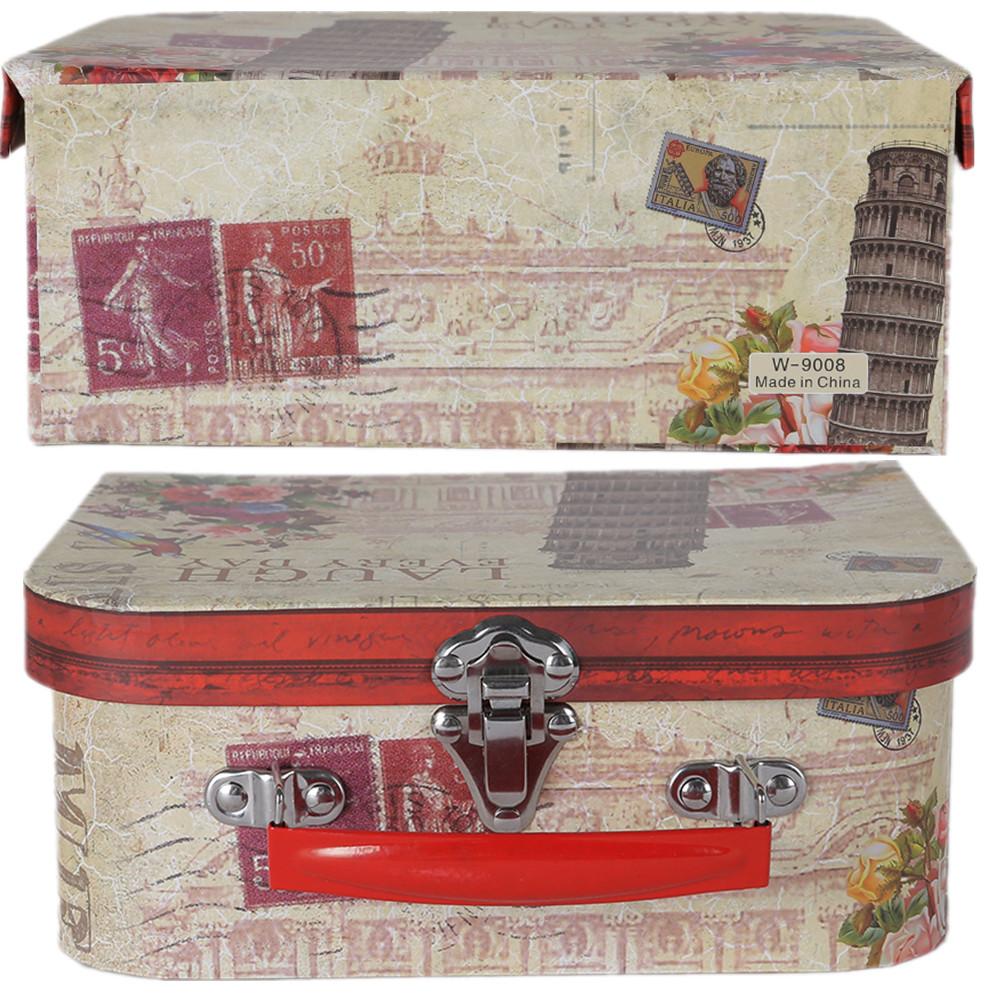 ET OF 3 RETRO SUITCASES. CHILDRENu0027S STORAGE BOX ... & Vintage Floral Suitcases Set Of 3 Storage Boxes Choice Of School ...