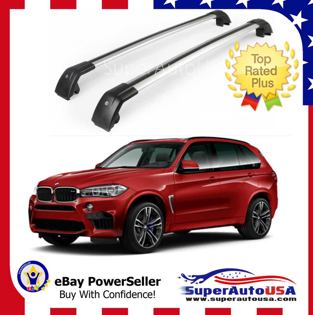Top Roof Rack Fit BMW 2014 - 2019 X5 F15 G05 Baggage ...