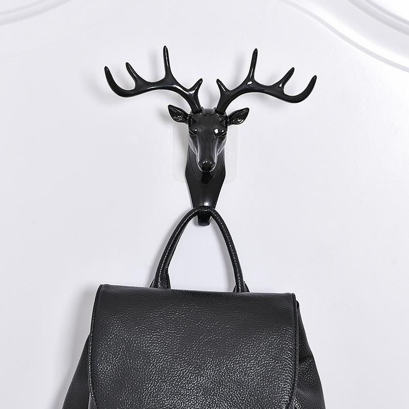 deer head hook key hat bag hanging wall mount decor hanger 2 way embed stick ebay. Black Bedroom Furniture Sets. Home Design Ideas
