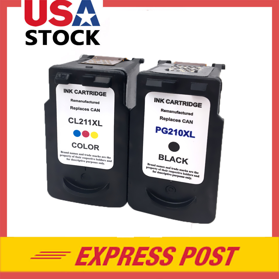 2 PK PG 210XL CL 211XL Black Color Ink For Canon PIXMA MP240 MP250 MP270 MX360