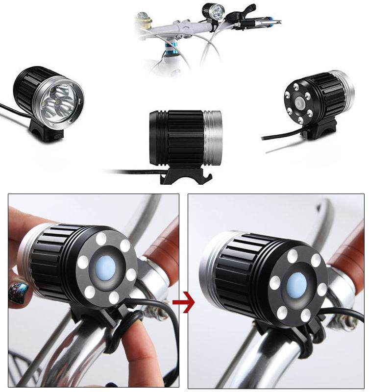 fahrradlampe 3 9 cree t6 led fahrradlicht fahrradbeleuchtung r cklicht lampenset ebay. Black Bedroom Furniture Sets. Home Design Ideas