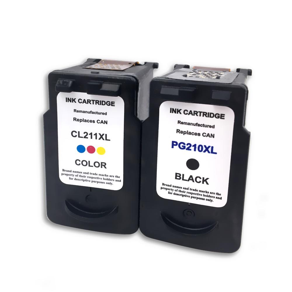 2 PK PG 210XL CL 211XL Black Color Ink For Canon PIXMA MP240 MP250 MP270 MX360