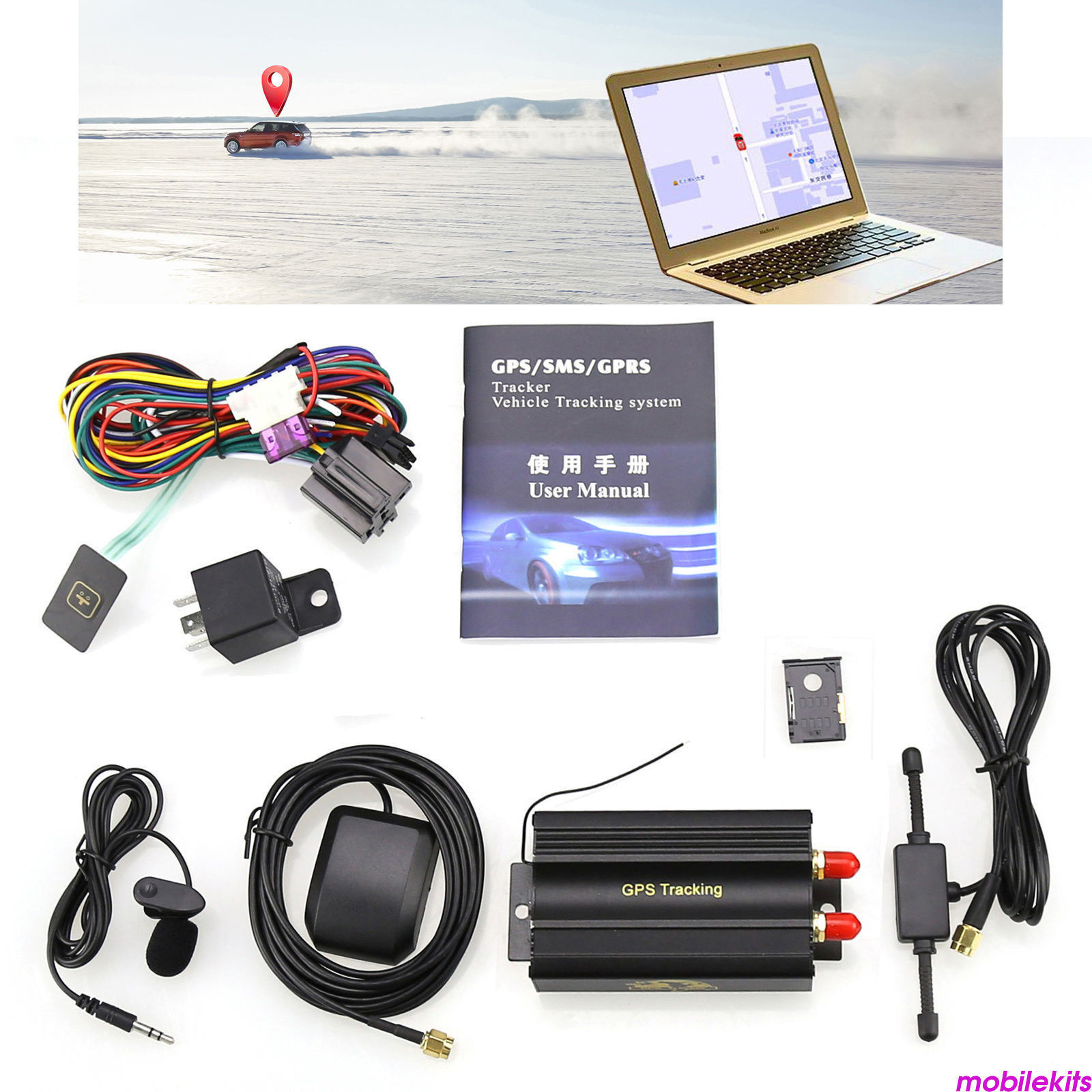 GT02A TK103A TK102B A8 TK103B GT06 Tracker GPS GSM GPRS Real Time