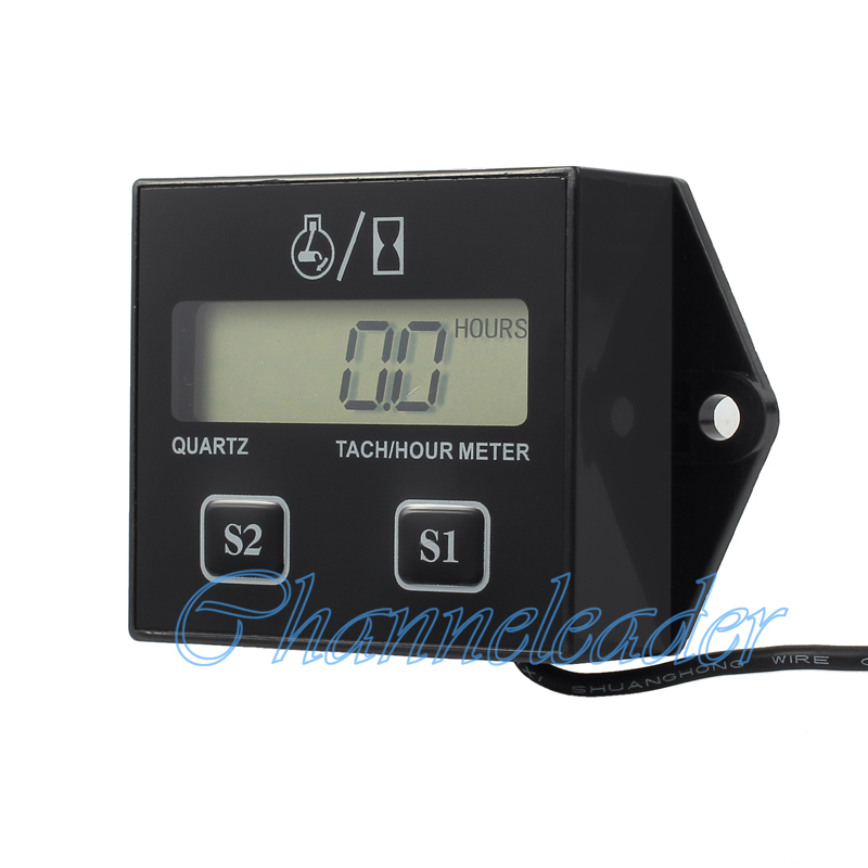 digital lcd motorrad meter tachometer drehzahlmesser. Black Bedroom Furniture Sets. Home Design Ideas