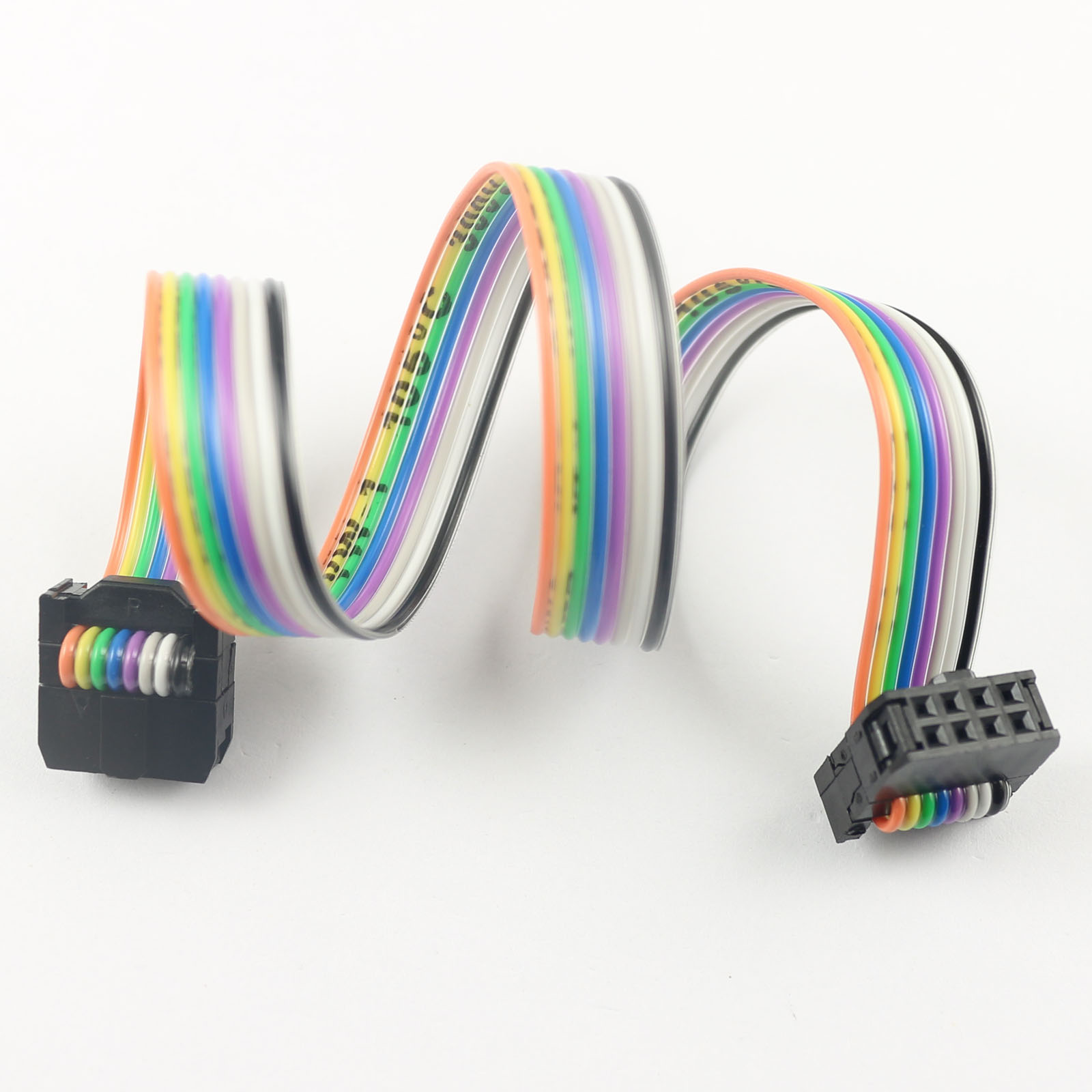 8 Pin Ribbon Cable Connector : Pcs mm pitch pin wire idc flat ribbon