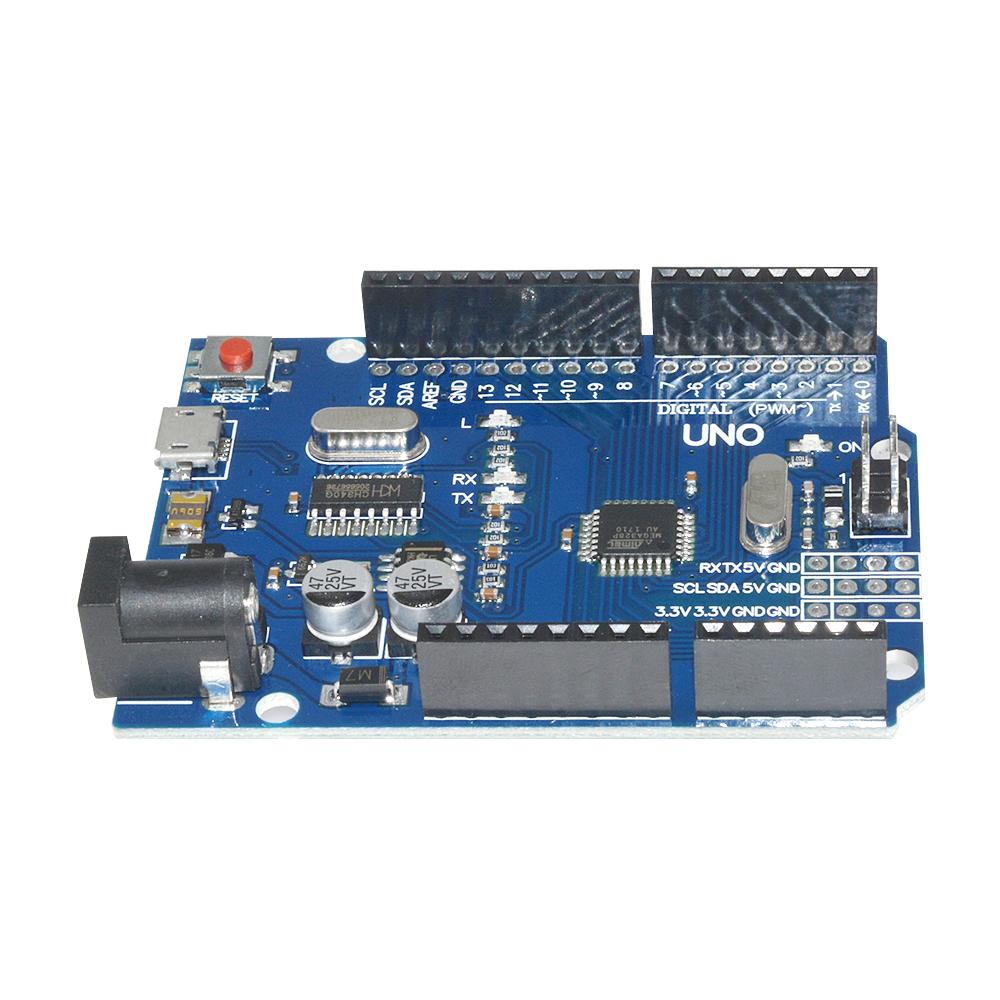 2PCS Arduino UNO R3 ATmega 328P CH340G Mini USB Board Hágalo usted mismo