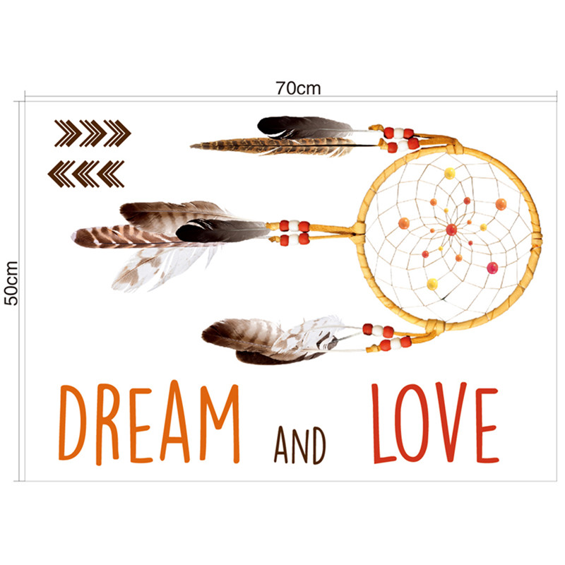 Indischer Art Traumfänger Wandaufkleber Wandtattoo