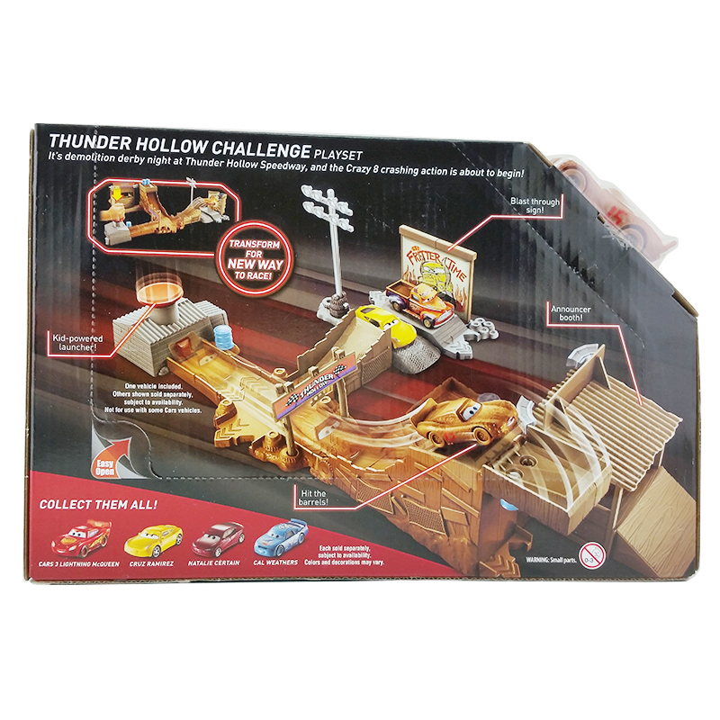Mattel disney pixar cars 3 thunder hollow challenge lightning mcqueen playset ebay - Coloriage cars 3 thunder hollow ...